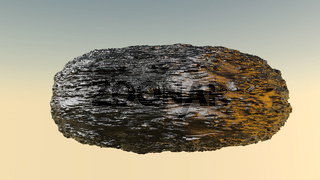 bumpy model of an abstract stone. 3D rendering