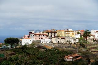 Blick auf den Ferienort Agulo, La Gomera, Kanarische Inseln, Spanien