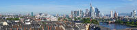 Panorama Luftaufnahme von Frankfurt am Main