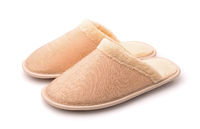 Pair of soft yellow slippers