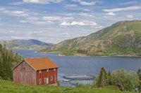 Fish farm in the Eiterfjorden