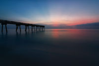 Colorful Sunrise at the Pier, Florida, USA