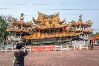 earthquake ruins of Wuchanggong temple