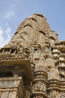 KANDARIYA MAHADEV TEMPLE, Shikara - Closeup, Western Group, Khajuraho, Madhya Pradesh, UNESCO World Heritage Site