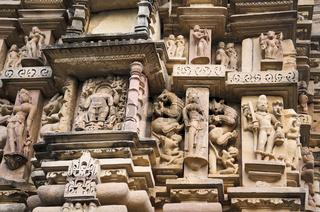 VISHWANATH TEMPLE, South Wall - Sculptures, Western Group, Khajuraho, Madhya Pradesh, UNESCO World Heritage Site