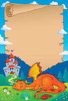 Sleeping dragon theme parchment 1