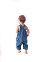 Toddler kid from the back