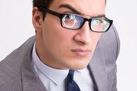 Concept of sensor implanted into human eye