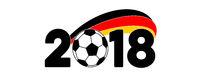 WM 2018 Deutschland Banner mit Flagge