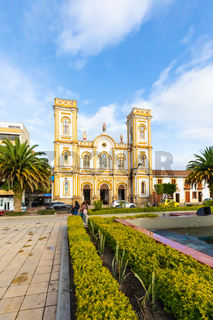 Colombia Sogamoso  Saint Martin of Tours cathedral at sunset
