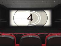 3D rendering modern cinema