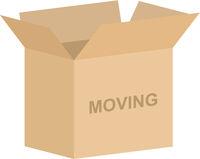 Open Cardboard Moving Box Vector