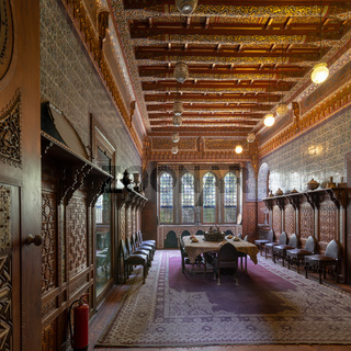 Manial Palace of Prince Mohammed Ali. Dining room at the Residence Building, Cairo, Egypt