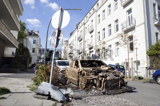 ausgebranntes Auto