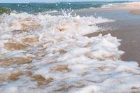 waves on the sea, seascape, sea foam