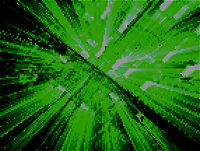 Green perspective background with rays burst and light effects