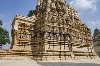 PARSVANATH TEMPLE, Facade - South View, Eastern Group, Khajuraho, Madhya Pradesh, UNESCO World Heritage Site
