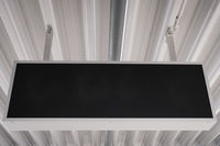 empty black sign mockup on ceiling / blank sign mock up  -