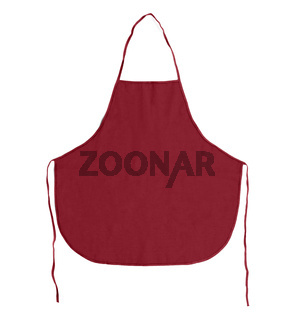 Kitchen apron. Front view. Isolated on a white background.