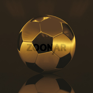 Realistic Soccer Ball On Dark Background