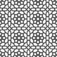 Seamless geometric ornament in black colors lines.