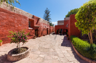 interior paths Santa Catalaina monastery  Arequipa