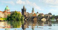 Famous Prague bridge