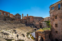Roman Theatre of Catania in Sicily, Italy