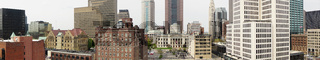 The Ohio Statehouse Panoramic in the Downtown Urban Core of Columbus