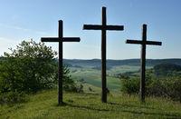crosses; swabian alps; Germany;