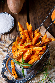 crispy sweet potato fries from the oven