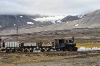 mining train, Svalbard