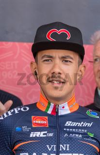 ESCHBORN, GERMANY - MAY 1st 2018: Marco Tizza at Eschborn-Frankfurt cycling race