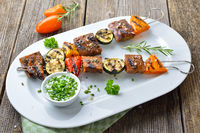 Skewers with seitan