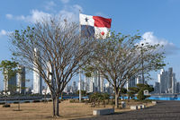 skyline of panama city, the capital of the republic of panama