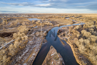 South Platte River in eastern Colorado