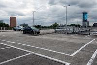 Empty upper deck of parking garage Utrecht