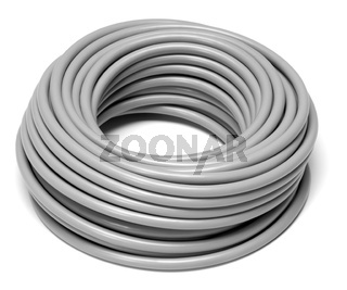 rolled grey cable