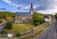 Güntersberge Church in the Selketal Harz Valley