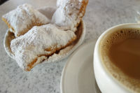 Beignets and chicory coffee in New Orleans