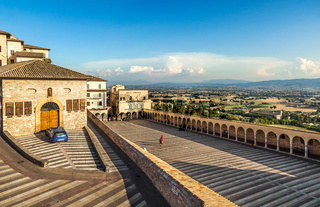 Assisi at sunset. Italy