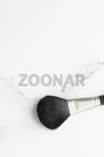Make-up and cosmetics products on marble, flatlay background