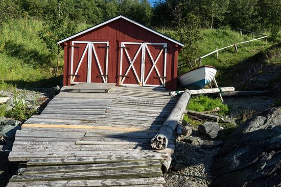 Fisher's Hut on Peninsula Lade in Trondheim