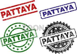 Scratched Textured PATTAYA Seal Stamps