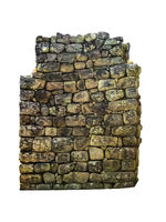 Stone Wall Pattern Isolated Photo