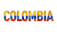 colombian flag text font