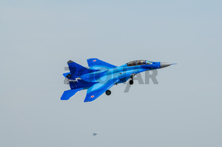 Airshow at the airport near Moscow in honor of Defender of the Fatherland Day
