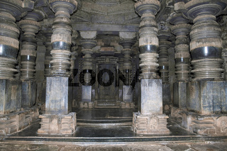 Interior of the main shrine, Parshvanatha Basadi, Basadi Halli, Karnataka