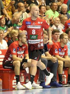 Robert Weber ( HSG Nordhorn-Lingen) beim Liqui Moly HBL Punktspiel SC Magdeburg gegen HSG Nordhorn-Lingen Saison 2019/2020