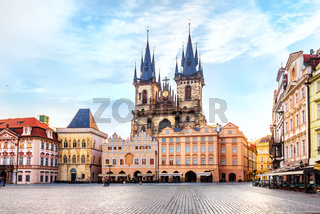 Church of Our Lady before Tyn in Prague, no people